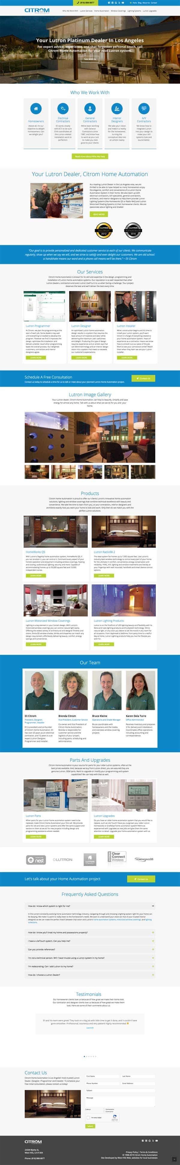 Citrom Home Automation - Los Angeles Lutron Dealer