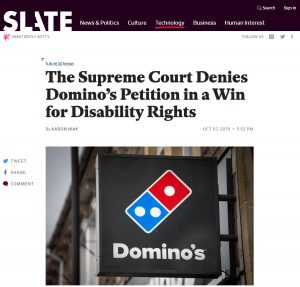 ADA Compliance Slate Supreme Court